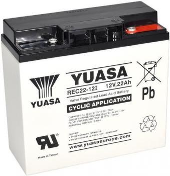 Olověný akumulátor Yuasa 12V 22Ah REC22-12I cyklický se zapuštěným závitem