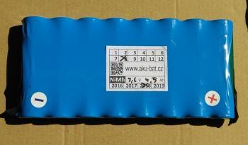 Bateriová sestava 9,6V 4500mAh z článků FDK HR-4/3FAU NiMH