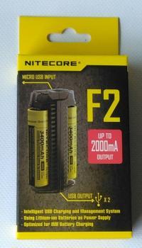 NITECORE F2 nabíječka s funkcí powerbanky pro 2ks Li-Ion baterie