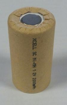 Průmyslová nabíjecí baterie Xcell NiMH SC 1,2V 2000mAh