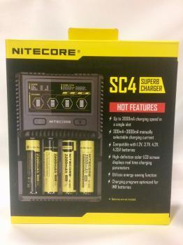 Nabíječka NITECORE SC4 Superb Charger pro Li-Ion, LiFePo4, Ni-MH, Ni-Cd