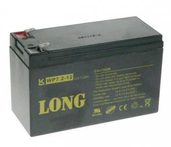 Long 12V 7,2Ah olověný akumulátor F2 (WP7.2-12 F2)