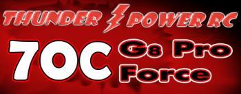 Thunder Power LiPol akupack G8 Pro Force 70C 11,1 V 850 mAh
