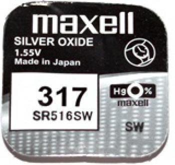 Knoflíková baterie Maxell 317, SR516SW Silver Oxide