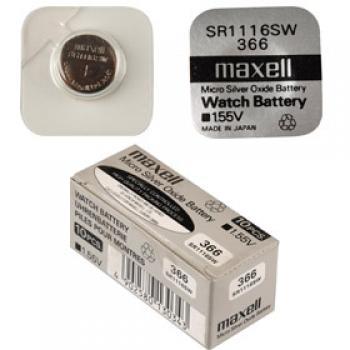 Knoflíková baterie Maxell 366 SR1116SW - Silver Oxid