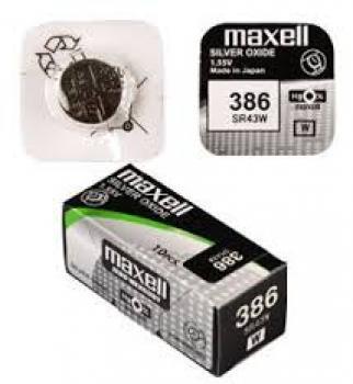 Knoflíková baterie Maxell 386 - SR43W - SR1142SW - silver oxid