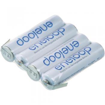 Akupack NiMh 4x1 AAA 4,8V 800mAh Eneloop s pásky