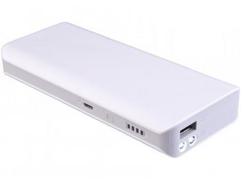 Externí baterie Li-ion 5V 10000mAh USB 2,1A bílá