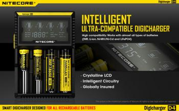Nabíječka Nitecore DigiCharger D4 LCD