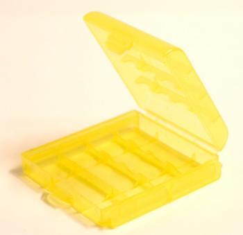 Pouzdro na 4x AA nebo 5xAAA baterie, barva žlutá