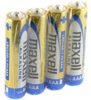 Baterie Maxell Alkaline AAA 4ks; 1,5V R03 4BP