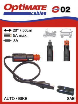 SAE-72 příslušenství k Accumate a Optimate - DIN / zapalovač konektor (samec)