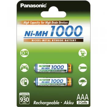 Baterie Panasonic BK-4HGAE/2BE AAA 1000mAh NiMH blistr 2ks