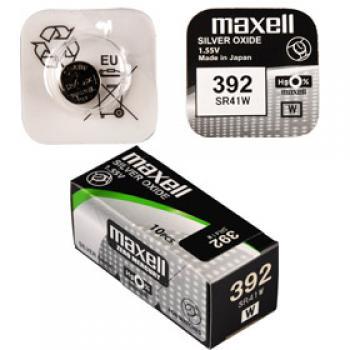 Knoflíková baterie Maxell 392 - SR41W - V392 - Silver Oxid