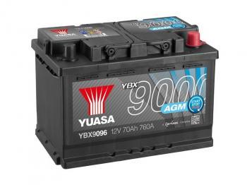 autobaterie YUASA YBX9096 12V 70Ah 760A