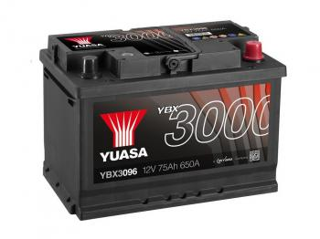 autobaterie YUASA YBX3096 12V 75Ah 650A