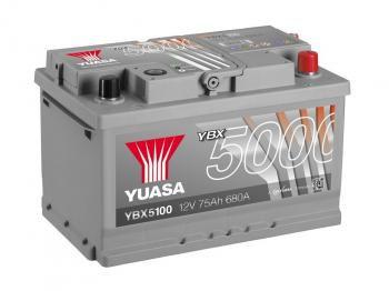 autobaterie YUASA YBX5100 12V 75Ah 680A