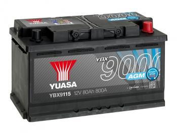 autobaterie YUASA YBX9115 12V 80Ah 800A