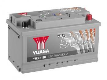 autobaterie YUASA YBX5110 12V 85Ah 800A