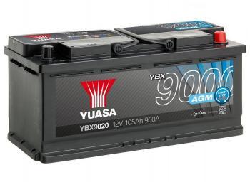 autobaterie YUASA YBX9020 12V 105Ah 950A