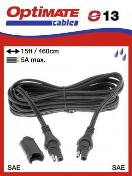 SAE-73STD příslušenství k Accumate a Optimate - Voděodolný prodlužovací kabel (4,6 m) 5A, -20°C