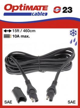 SAE-73WP příslušenství k Accumate a Optimate - Voděodolný prodlužovací kabel (4,6 m) 10A, -40°C