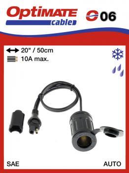SAE-76 / O06 příslušenství k Accumate a Optimate - 12V voděodolná zásuvka zapalovač (samice)