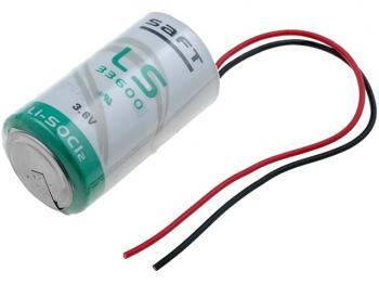 SAFT LS33600-PR lithiový článek 3.6V 17Ah (vel. D) s lankovými vývody
