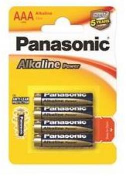 Baterie Panasonic Alkaline Power AAA alkalická baterie 1,5V (BL4)