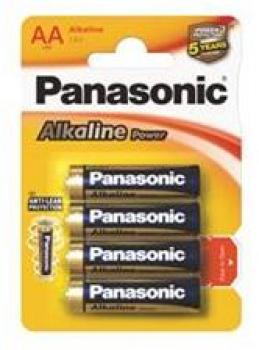 Panasonic Alkaline Power LR6 AA alkalická baterie 1,5V (BL4)