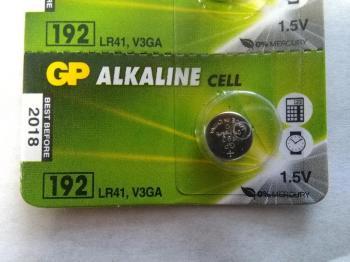 GP 192 AG3 LR41 LR736 L736 1,5V alkalická baterie