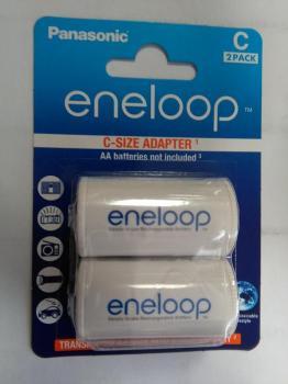 Panasonic Eneloop adaptér na akumulátory typ C 2ks, redukce z AA na malý momočlánek C