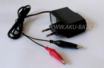 Nabíječka AKU-BAT pro olověné AGM/GEL akumulátory 6V 1,2A