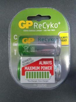 Nabíjecí malý monočlánek vel. C Ni-MH GP ReCyko+ 3000mAh 1 kus- půl balení