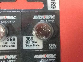 Knoflíková baterie Rayovac 389 (SR54, SR1130, G10, GP 390 )