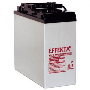 Baterie Effekta BTL12-55F 12V 55Ah - přední poly