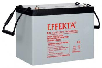 Baterie Effekta BTL12-75 12V 75Ah - 10 let