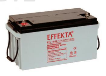 Baterie Effekta BTL12-65 12V 65Ah - 10 let