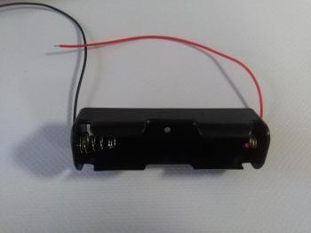 Držák baterie Li-ion velikosti 18650 3,7V ukončení kablíky