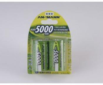 Nabíjecí baterie Ansmann velikost D (mono R20) 5000mAh blistr 2 kusy
