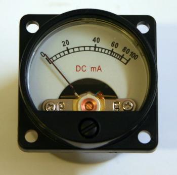 Panelový mA metr - rozsah DC 100mA - SD39 s podsvícením