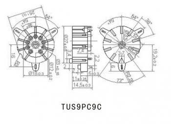 Patice zlatá pro elektronky NOVAL TUS9PC9C GP