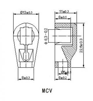 Anodová čepička pro elektronky MAGNOVAL - zlatá MCV GP