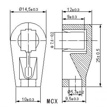 Anodová čepička pro elektronky 6J1 - MCX