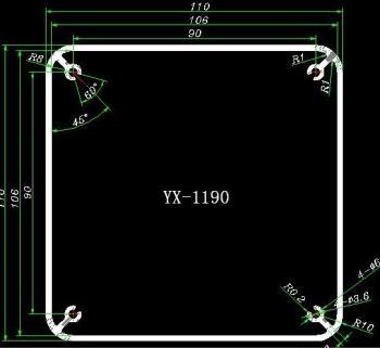 Šasí pro transformátor - černá barva GDTC06