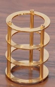 Chladič pro elektronky EL34, 6L6 - zlatý