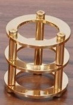 Chladič pro elektronky 12AX7/ECC83 - zlatý