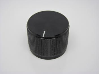 Hlinikový knoflík - černý - průměr 40 mm