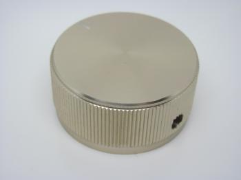 Hlinikový knoflík - stříbrný - průměr 24mm
