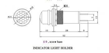 Indikátor - červený - GDPL-03